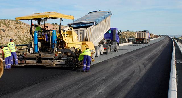 Asfaltado carretera Alicante