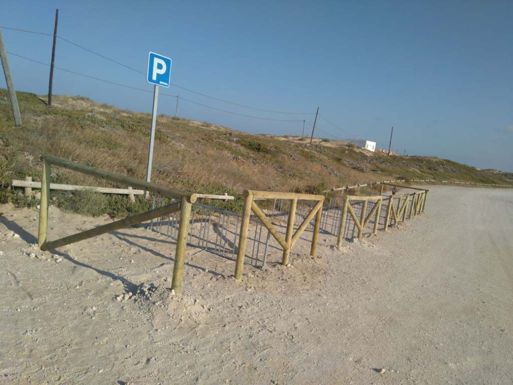 Parking en el final del proyecto carril bici en la MArina