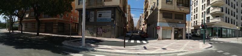 Imagen de las Puertas Coloradas en Elche después de las obras de rehabilitación
