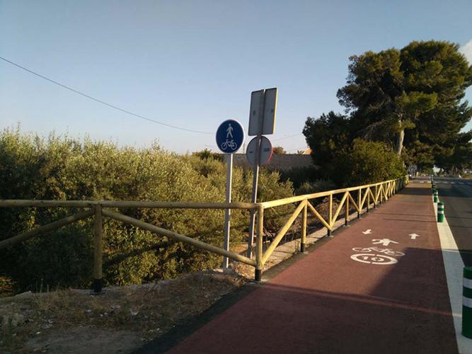 Obra de asfaltado del carril bici