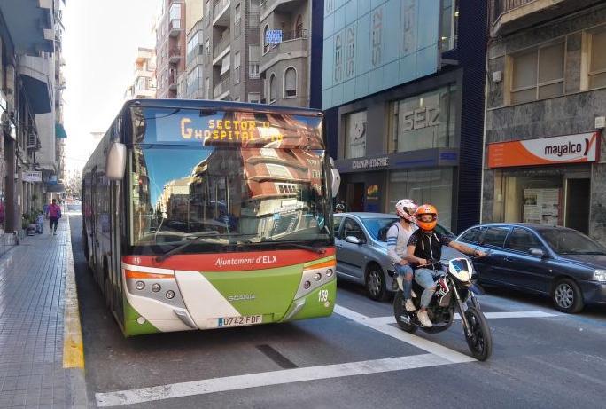 El carril bus de Elche sigue creciendo, por una ciudad más sostenible