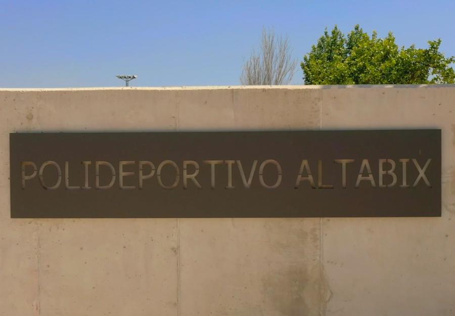 Obra finalizada en el Polideportivo Altabix de Elche