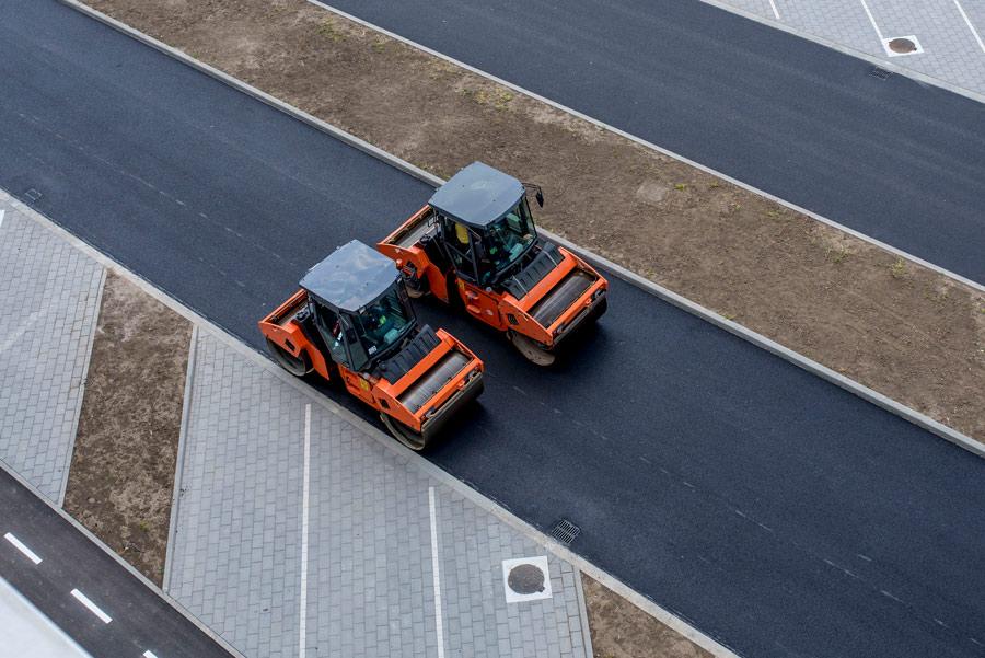 Máquinas para el asfalto que utilizamos en Involucra S.L